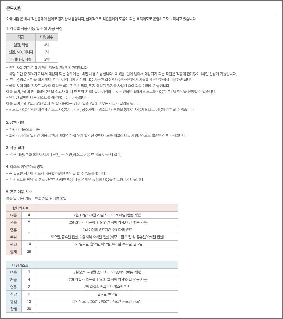 오케이몰의 콘도지원 소개